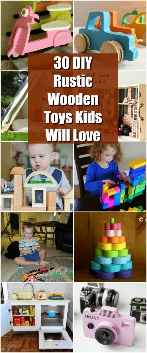 30 DIY Rustic Wooden Toys Kids Will Love - Wooden toys diy, Wood toys diy, Kids wooden toys, Wooden baby toys, Diy kids toys, Wood projects for kids - Do you remember those great wooden toys that used to be all the rage back in the day  I love those things and I love that you can actually make many of them yourself  Whether