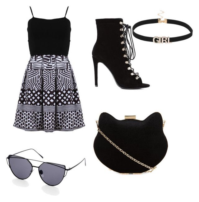"""""""Night out"""" by izzybelle717 on Polyvore featuring FRACOMINA and New Look"""