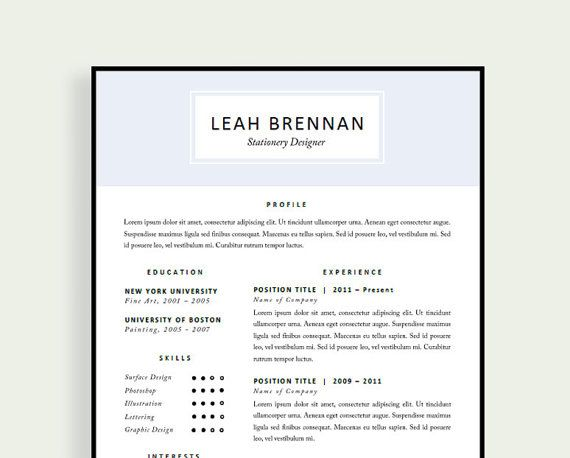 Professional Resume Design Free References and Cover Letter