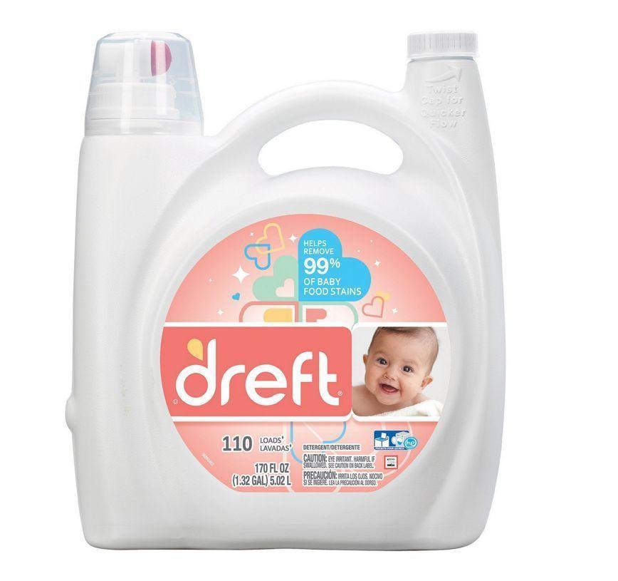 Dreft He Liquid Laundry Detergent 170 Oz 110 Loads 1 Choice