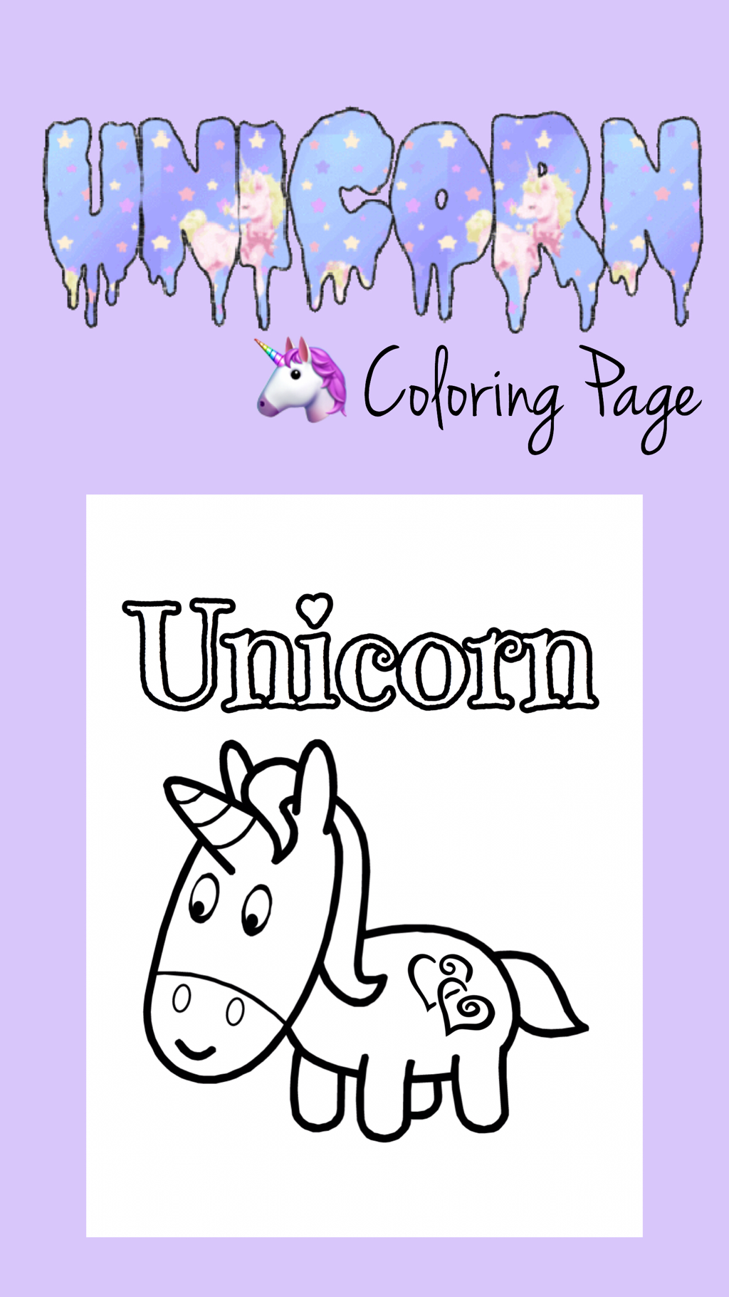 Free printable coloring pages unicorn - Unicorn Coloring Page Free Printable