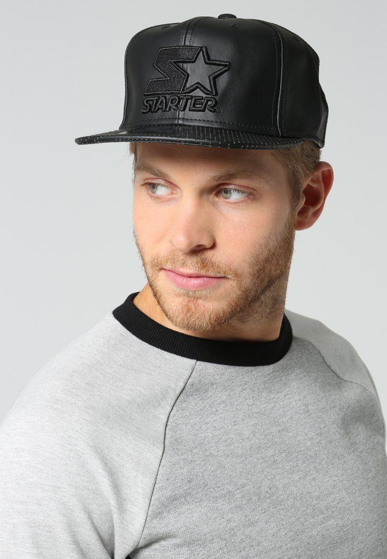Cap - Modische Cap in Schwarz von Starter. Diese Cap begeistert durch die coole Lederoptik. - ab 29,95€
