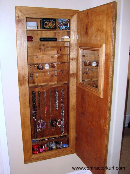 custom builtin jewelry cabinet For the Home Pinterest Jewelry