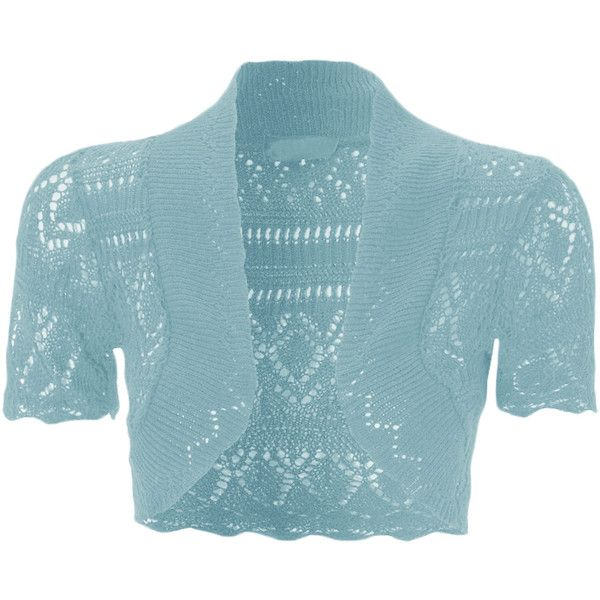 WearAll Dayna Crochet Knitted Shrug ($9.14) ❤ liked on Polyvore ...