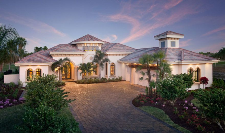 Mediterranean House Plan Luxury 1 Story Home Floor Plan With Pool Mediterranean Style House Plans Mediterranean House Plans Mediterranean Style Homes