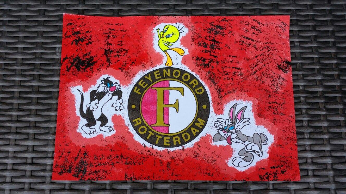 15 Euro Feyenoord Schilderij Schilderij