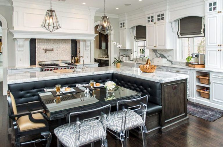 Beautiful Kitchen Islands With Bench Seating Kitchen Seating