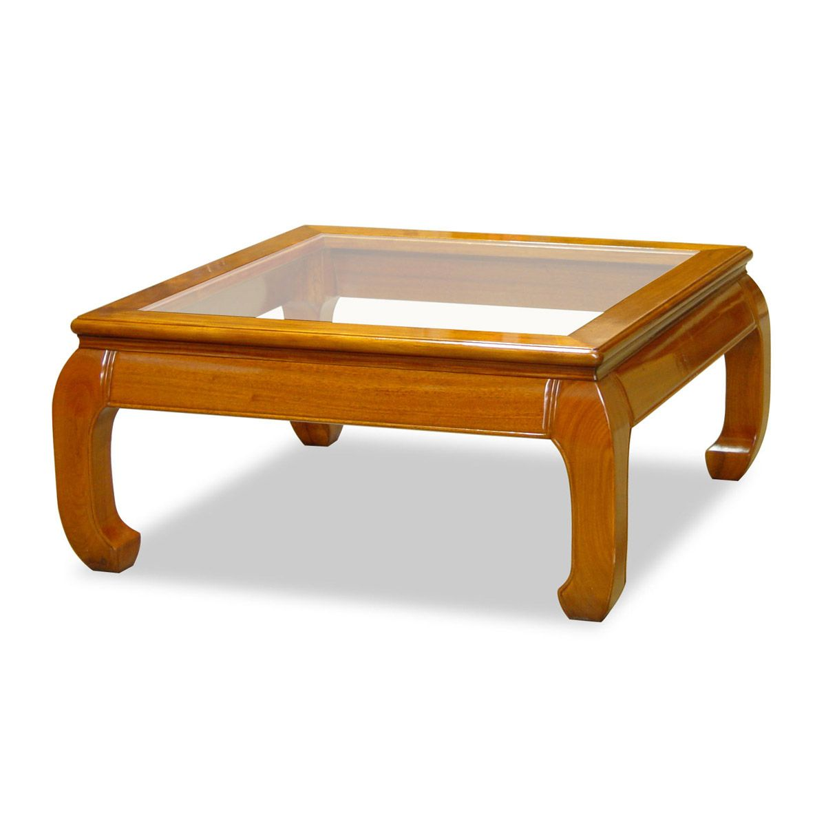 Rosewood Ming Style Square Coffee Table W Glass Domus Pinterest
