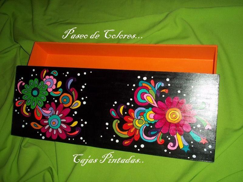 Cajas de madera pintadas a mano ideas varias pinterest - Cajas de madera pintadas a mano ...