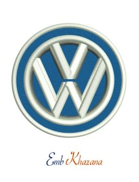 Vw Volkswagen Logo Embroidery Design Vw Volkswagen Logo Machine
