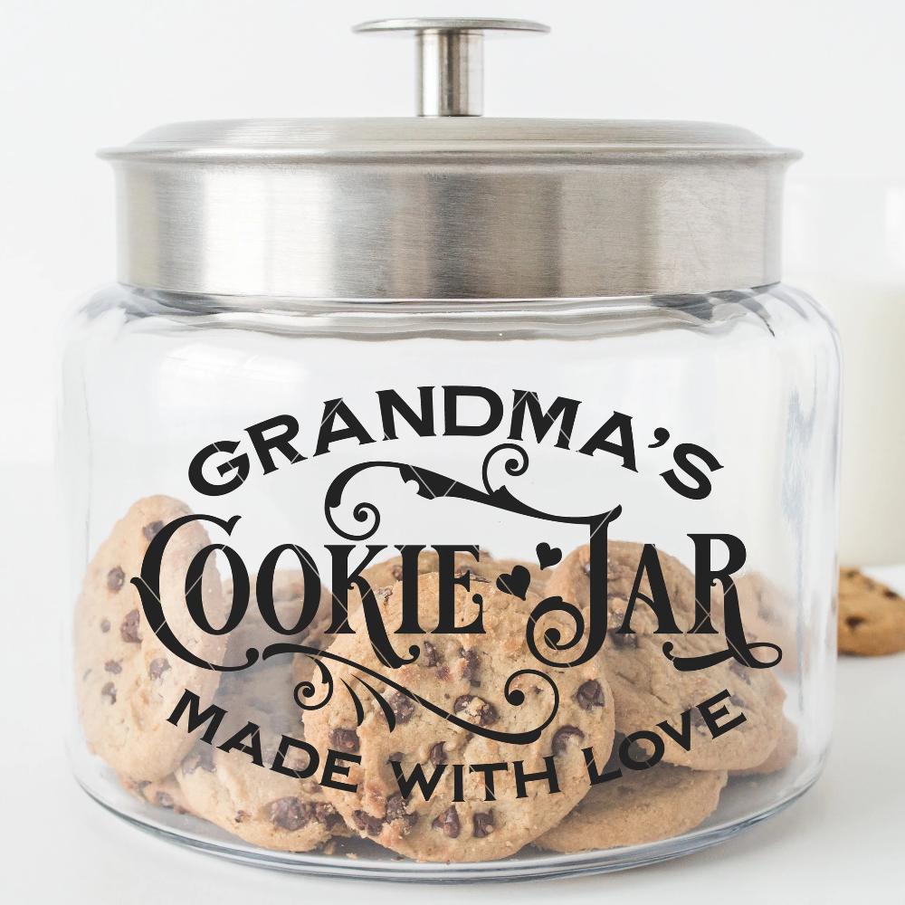 Cookie Jar Svg File With Name Variations Grandma Cookie Jar Cookie Jars Diy Jar
