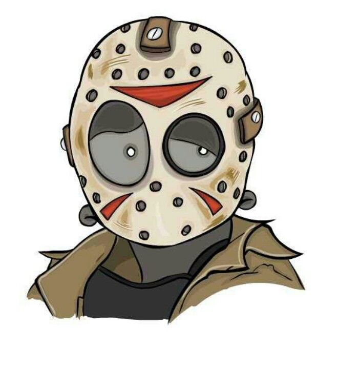 Halloween Jason Mask Cartoon.Jason Voorhees Team Voorhees M In 2019 Jason Voorhees Horror