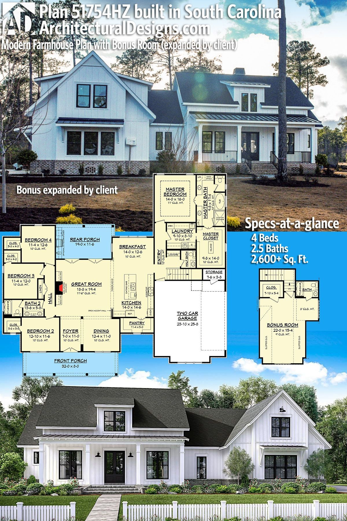Our client built Architectural Designs Modern Farmhouse