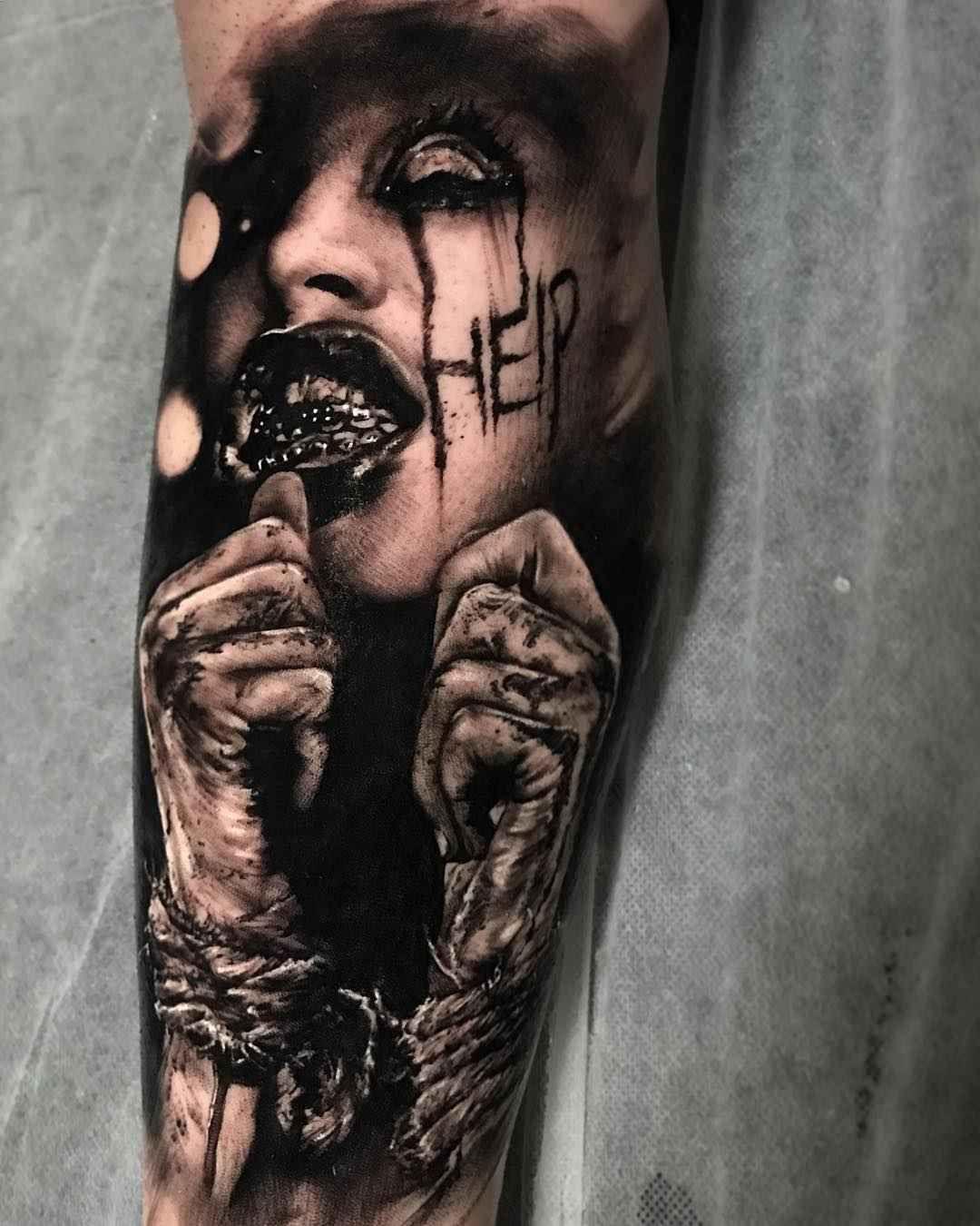 Tattoo Artist Damon Holleis Evil Tattoos Scary Tattoos Tattoos For Guys