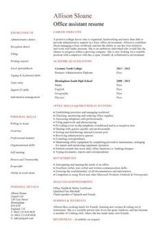 No Work Experience Office Assistant Resume  Resume