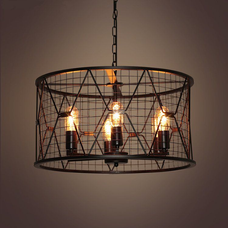 Modern Black Birdcage Pendant Lights Iron Minimalist Retro Light Scandinavian Loft Pyramid L Cage Ceiling Light Black Industrial Chandelier Chandelier Lighting