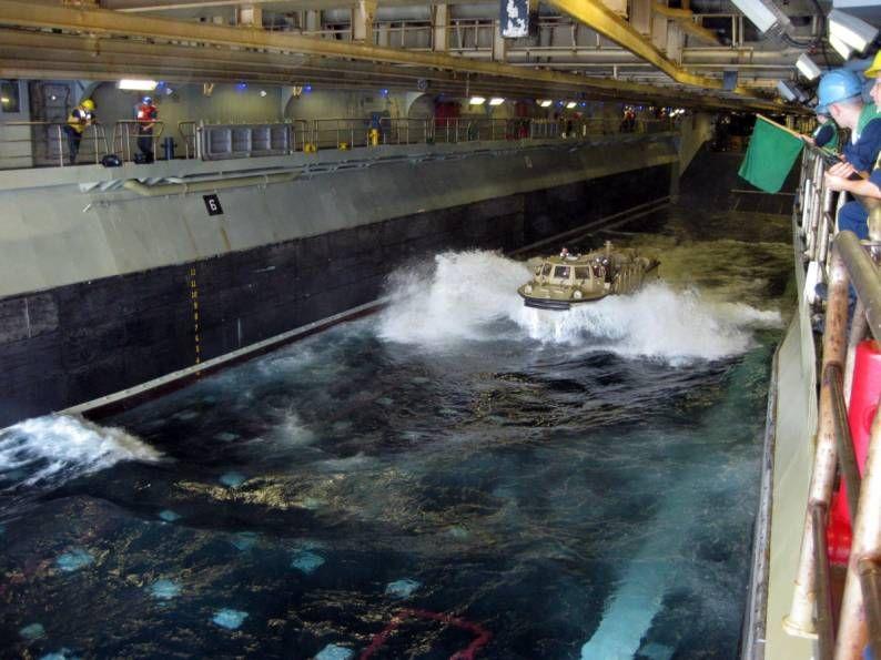 Wasp class LHD amphibious assault ship well deck   Us navy ships ...
