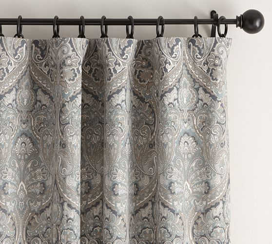 Mackenna Paisely Drape Pottery Barn Paisley Curtains Custom Drapes Curtains