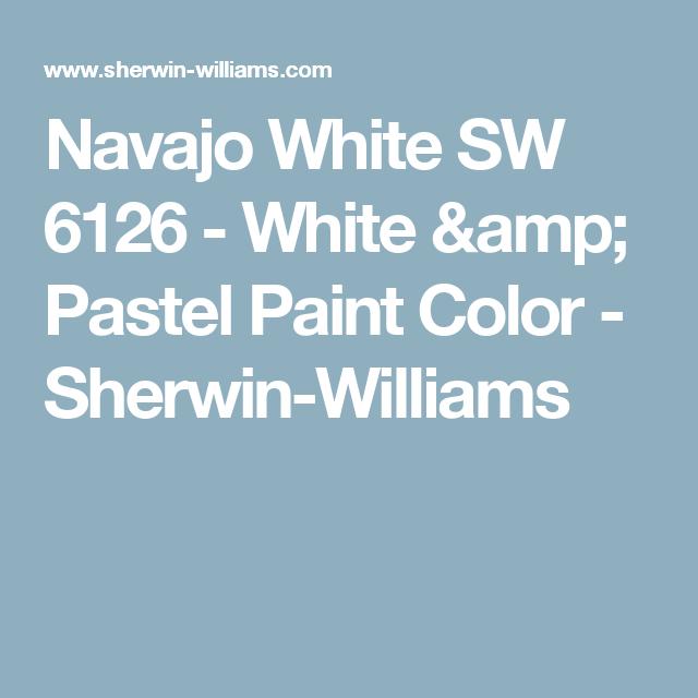 Navajo White Sw 6126 White Pastel Paint Color Sherwin Williams