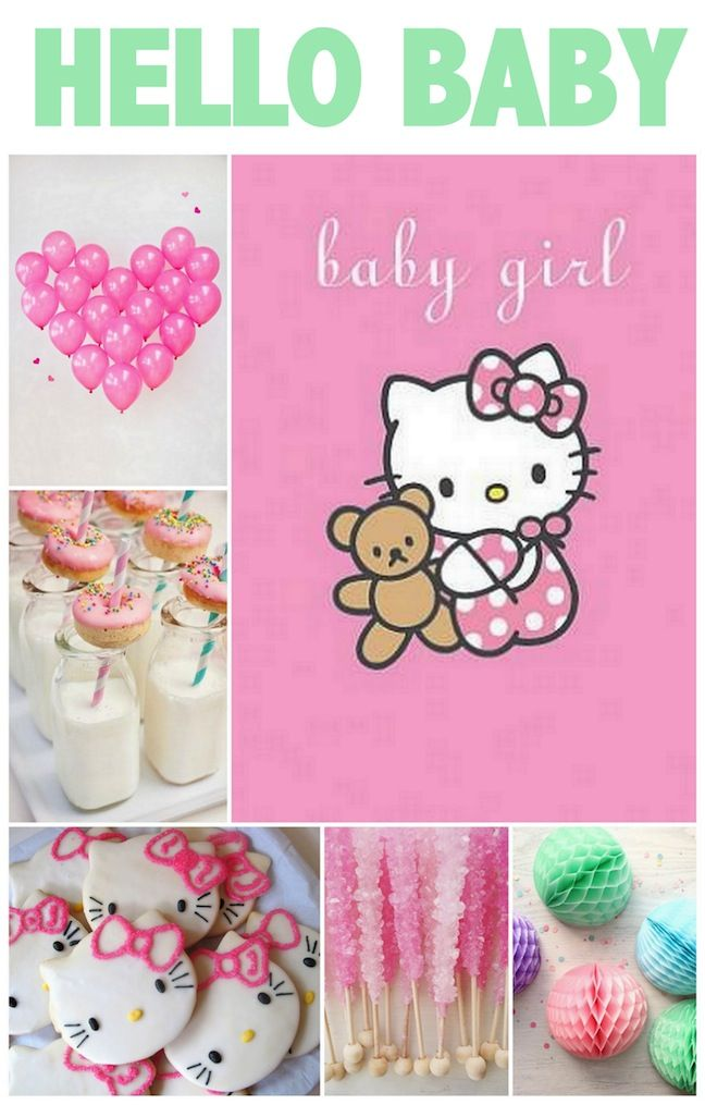 Linen Lace Love Hello Kitty Baby Shower Baby Shower