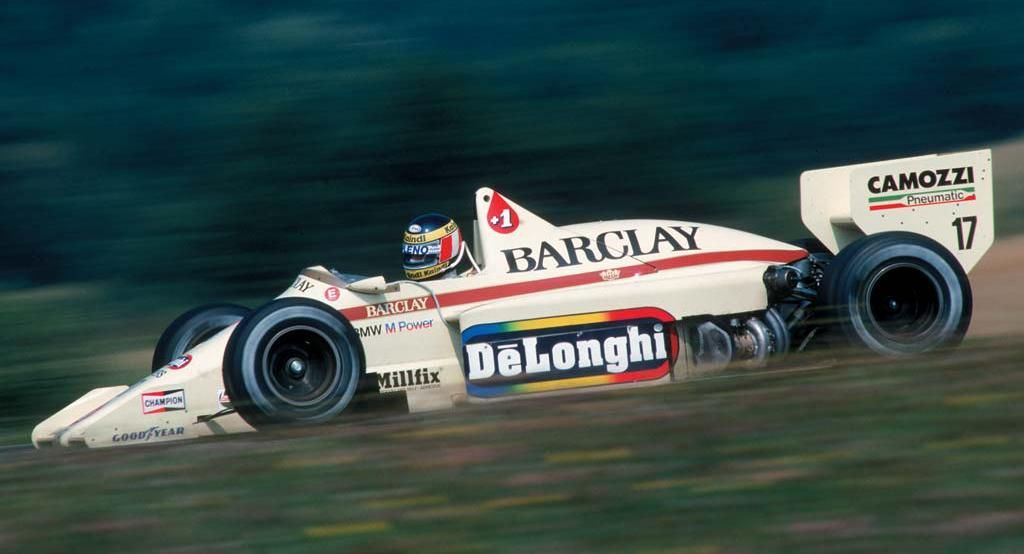 Gerhard Berger at the wheel