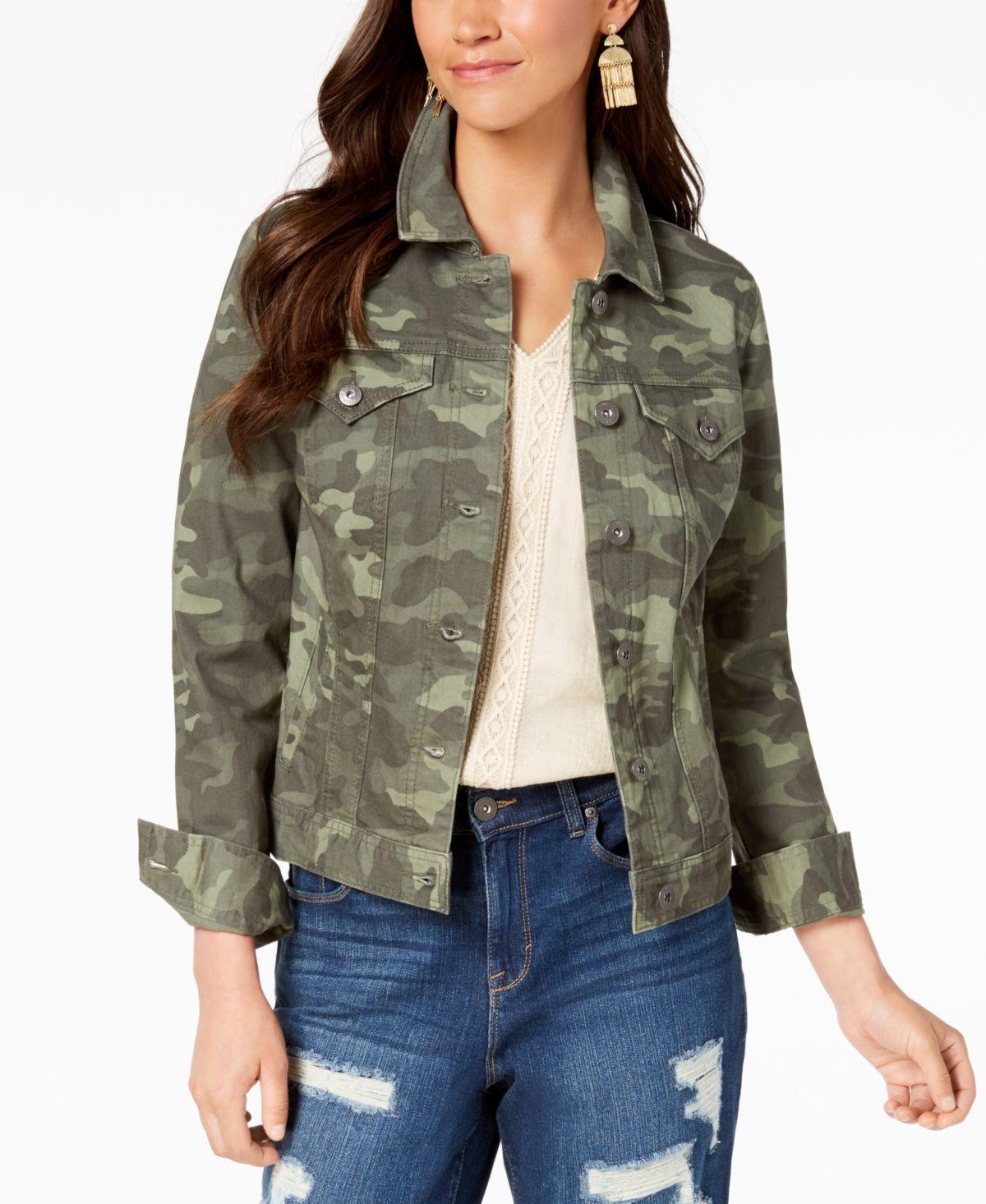 Style Co Denim Jacket Created For Macy S Reviews Jackets Blazers Women Macy S Blazer Jackets For Women Camo Jacket Women Petite Denim Jacket [ 1466 x 1200 Pixel ]