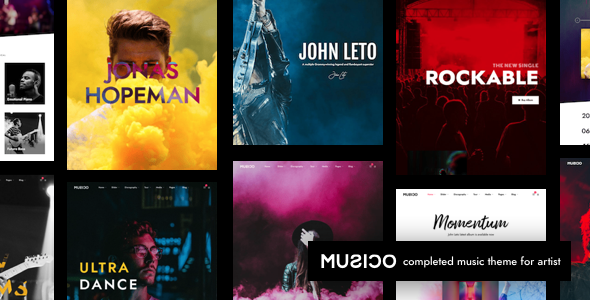 Musico Music and Band WordPress Theme Music wordpress