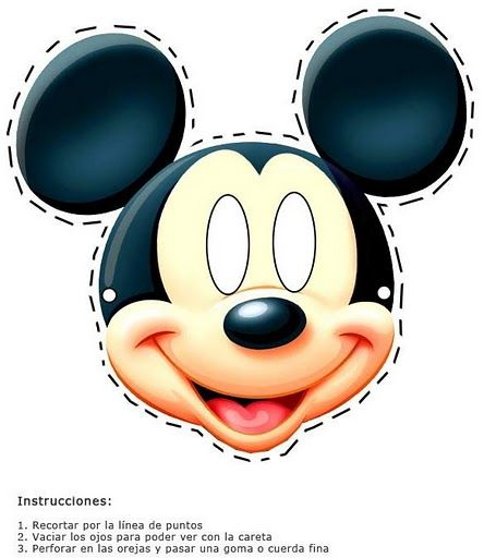 Printable mickey mouse mask this mask fun little ones for Printable mouse mask template