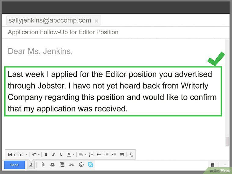 29++ How to follow up email after sending resume Format