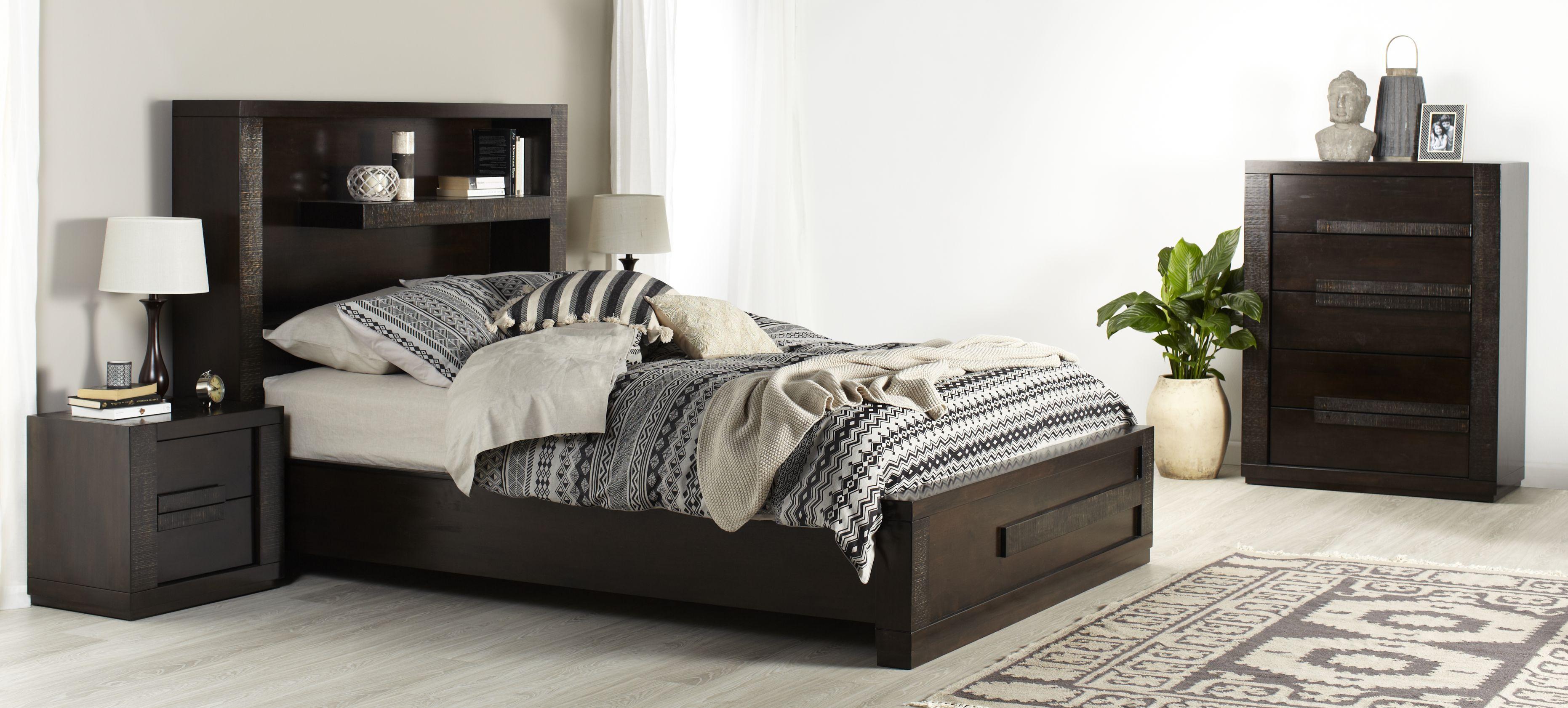 Java Bedside Table Brown Bedroom Furniture Forty Winks Contemporary Bedroom Furniture Furniture Bedroom Furniture