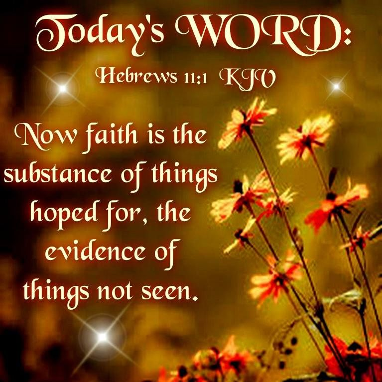 Image result for Picture of words of Hebrews 11:1