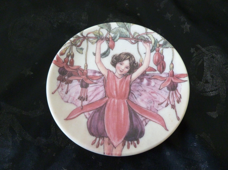 Flower Fairy Dish The Fuchsia Fairy By Cicely Mary Barker Etsy Fuchsia Cicely Mary Barker Flower Fairy