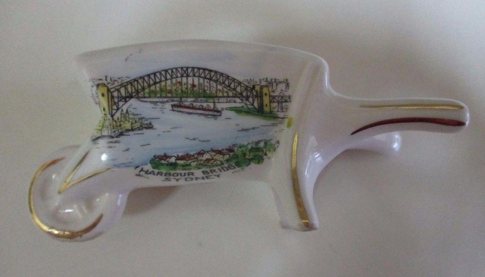 Vintage Sydney Harbour Bridge Wheelbarrow Victoria Fine China Germany Fine China Vintage China Wheelbarrow