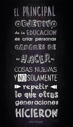 El objetivo de la educación