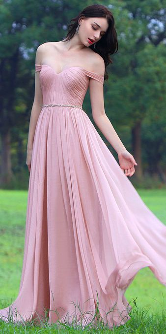 314629672451 Pink Off Shoulder Bridesmaid Dress Formal Gown (00170601) in 2019 ...