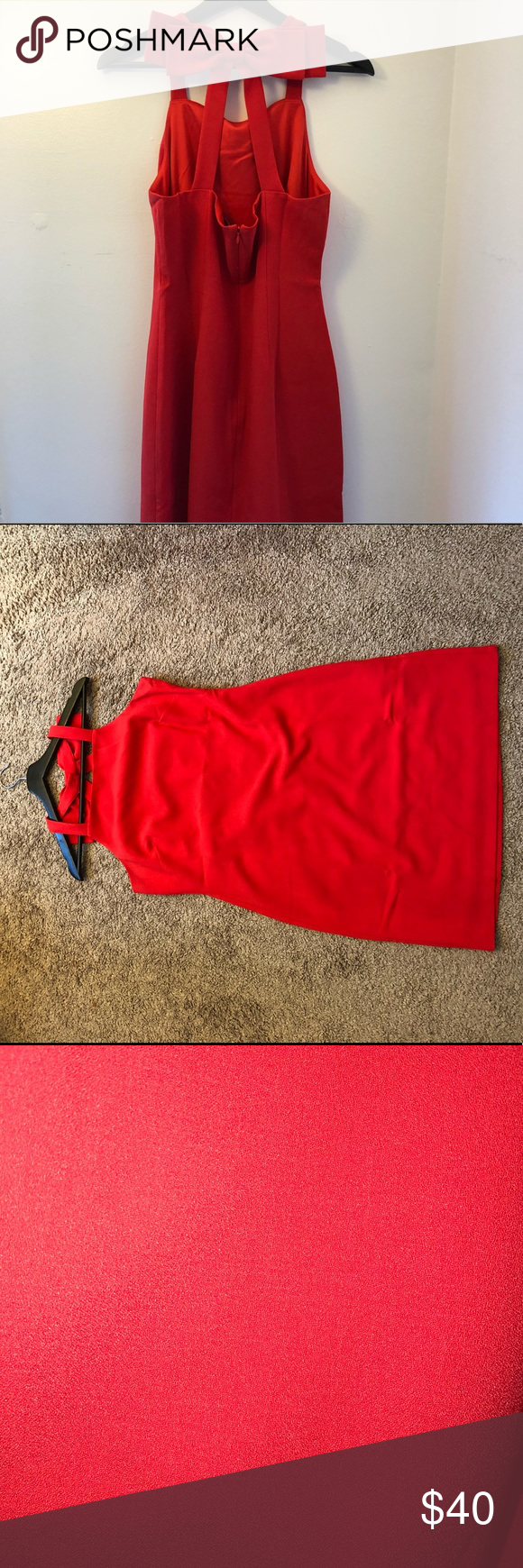 Red Dress With Bowtie Back Detail By Vince Camuto Red Dress Dresses Vince Camuto [ 1740 x 580 Pixel ]