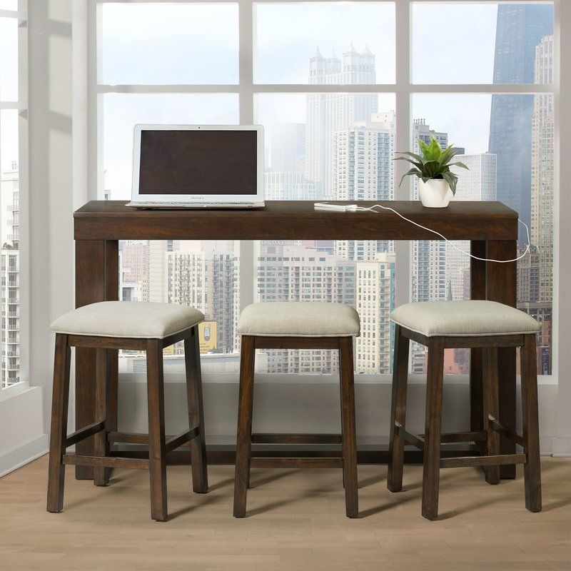 Schiavone 4 Piece Dining Set Bar Table Picket House Furnishings