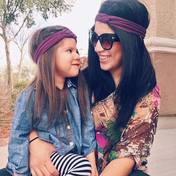 Mommy and me headbands - mother daughter headbands - matching headbands -  new mom gift - big sister gift - sister headbands 210fc7ca98d
