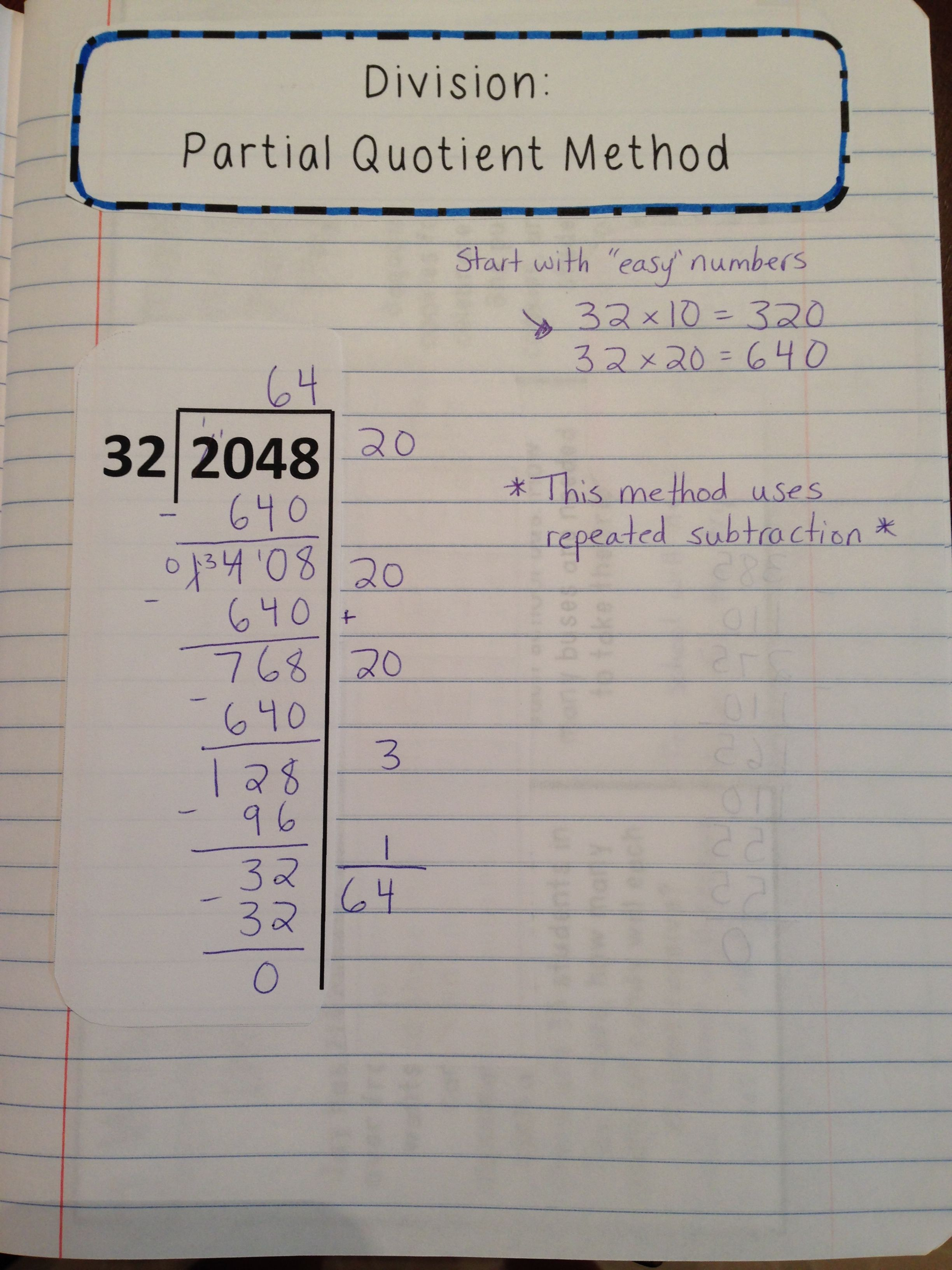 Division Lesson With Interactive Notes Word Problems