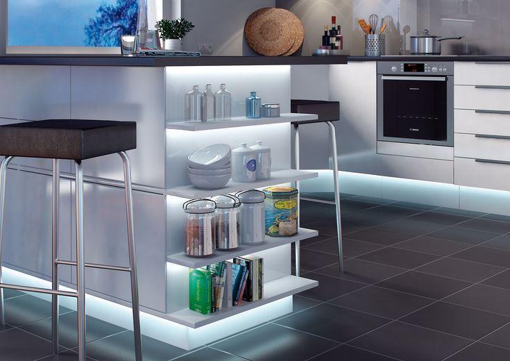 LED Stripes in der Küche gehen irgendwie immer, oder? #ledstripes - licht ideen wohnzimmer