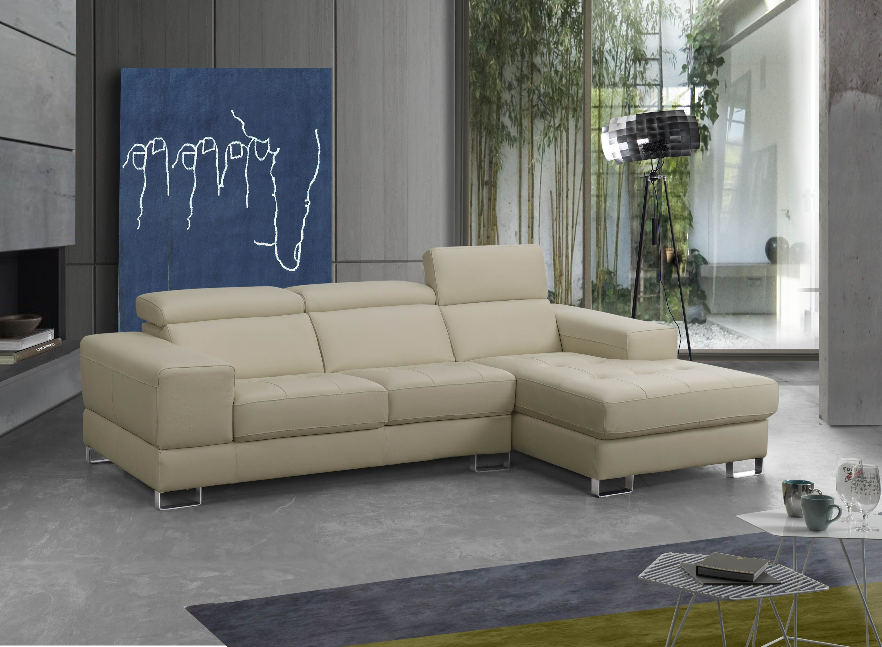 Advanced Adjustable Furniture Italian Leather Upholstery Corner