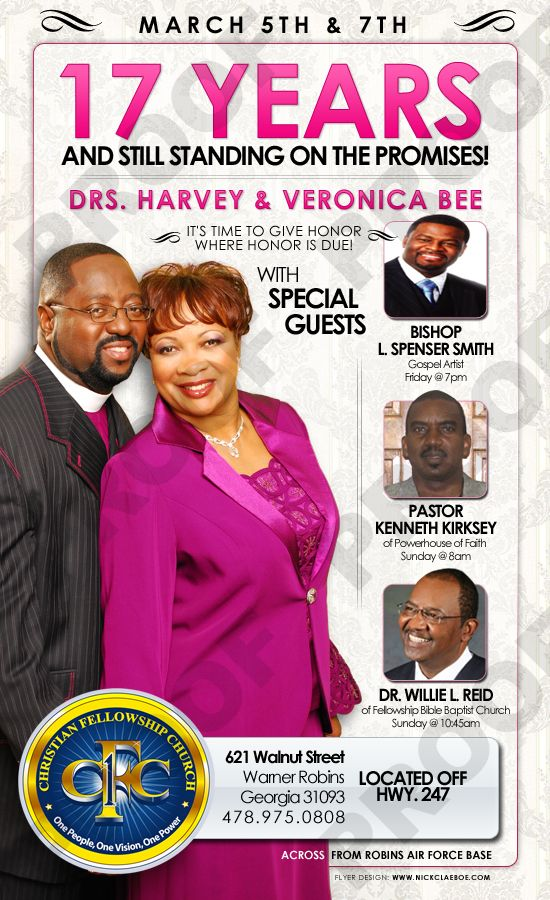 E-flyer Design - Christian Fellowship Church | Pastor Appreciation ...