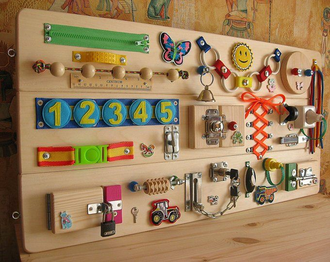 Personalized Busy Board Wooden Toy Childrens Activity Toy