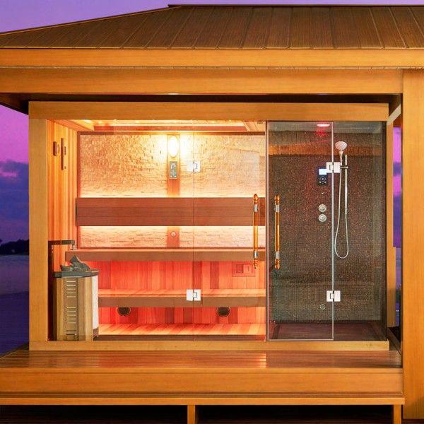 Eo Spa Sauna Lt07 Red Cedar 558x350 10 8kw Vitra Combi