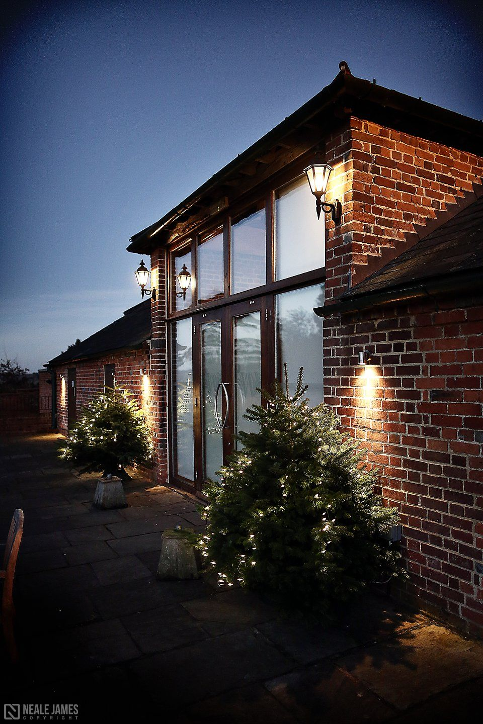 Wasing Park Barn Wedding Venue In Berkshire December Christmastree Festive