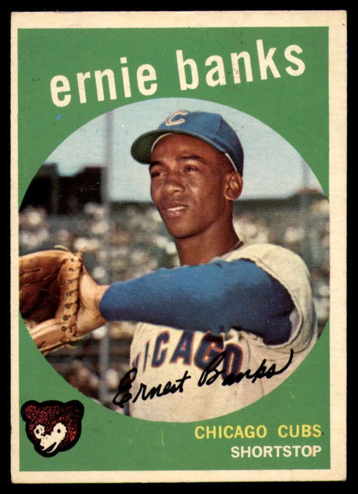 1959 topps 350 ernie banks exmint cubs topps