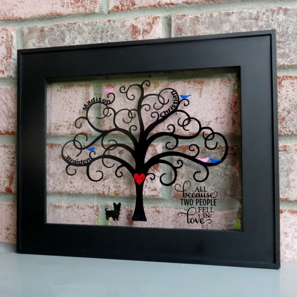 Family Tree Frame With Vinyl