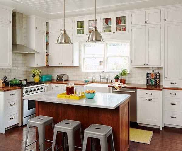 Long Kitchen Cupboards: Long-Awaited Kitchen Remodel With DIY Cabinetry
