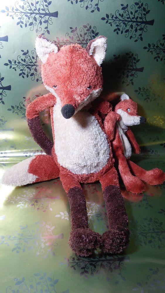 RARE PLUSH IKEA KLAPPAR RAV FOX MOM AND BABY FOX HTF #ikeaplush #ikea #foxplush #foxes #fox