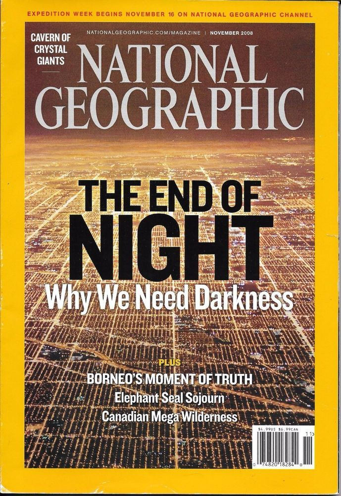 National Geographic Magazine Light Pollution Borneo Crystal Giants
